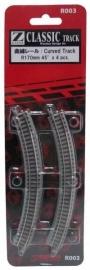 Rokuhan / Noch 97003 gebogen rails (4 stuks) R170 mm /  45º