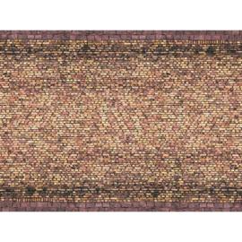 Noch 56605# 3D kartonplaat Baksteen geel/bont