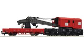 Roco 56240. Kraanwagen met bijwagen van de DB AG