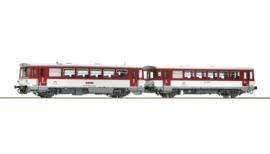70382 - Dieselmotorwagen klasse 810 en caboose, ZSSK