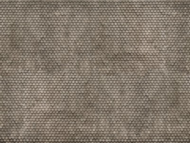 Noch 56691#3D kartonplaat Biberschwanz grijs