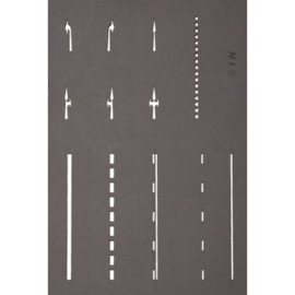 NOCH 34240 : Straatmarkering sjablonen