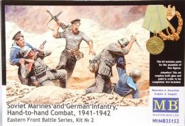MB 35152 : Russische mariniers en Duitse infanterie