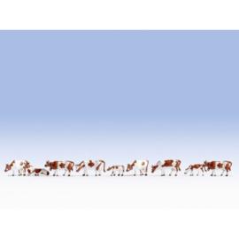 Noch 36723#Koeien rood-bont 9 stuks N