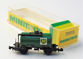 Minitrix 3544. Tankwagen BP.