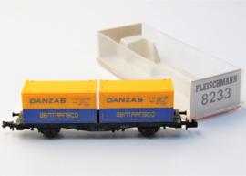Fleischmann 8233. Containerwagen van de DB
