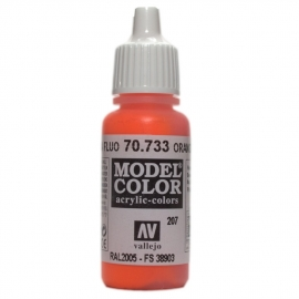 Vallejo 70.733 Oranage Fluo Fluorescent, acryl verf (17 ml)