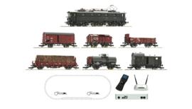 51323 - ROCO Edition - Digitale startset z21: Elektrische locomotief serie E 52 en goederentrein, DRG