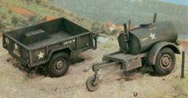 Italeri 229 # Gal.s Tank Trailer - M101 Cargo Trailer