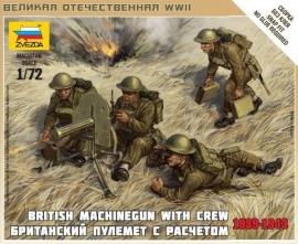 Zvezda 6167 : Britse Machine Gun VICKERS met Crew