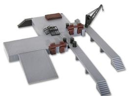 Kibri  38620 - Laad- losplaats met kleine kraan