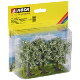 Noch 25111 # Fruitbomen wit bloeiend, 3 stuks