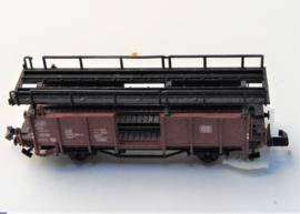 Fleischmann 8224. Dubbeldeks autotransportwagen van de DB