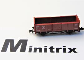 Minitrix 3529. Open goederenwagen met hoge borden