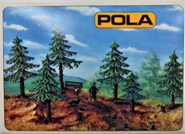 Pola 540. 4 dennnenboompjes als bouwdoos.