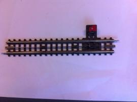 Trix Express (4)705. Rechte hand ontkoppelrail 183,5mm.