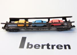 Ibertren 451. Autotransportwagen beladen met 3 auto's