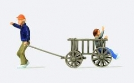 Preiser 28112 # Kinderen met bolderwagen