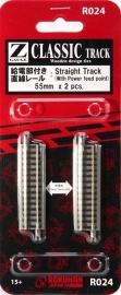 Rokuhan / Noch 97008 rechte rails (2 stuks) 55 mm