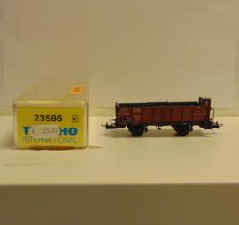 Trix 23586 : Open goederenwagen met remmershuis (DRG)