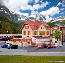 """Kibr 37114. """"Gasthaus zur Eisenbahn mit Biergarten"""""""