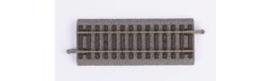 Piko 55404 (A)Rechte rail met bedding 107mm