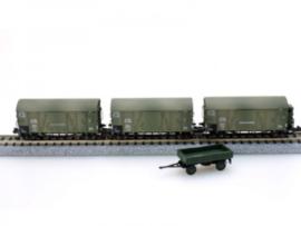 HobbyTrain H24204 : 'Wehrmacht' Goederenwagen set (DRG)
