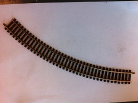 Fleischmann 6024. Gebogen rail 45gr. R1=357mm