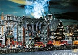Faller 130441 # Belastingkantoor in vuur en vlam