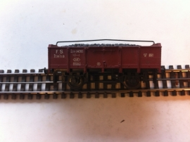 Trix Express 3985. Open goederenwagen met kolenlading van de FS.