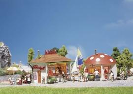 Faller 120135 # Kiosk en paddenstoelkiosk
