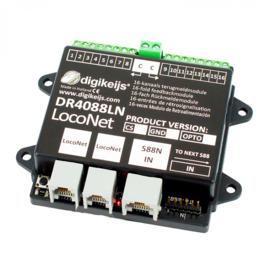 DR4088LN-CS : Terugmeldmodule met LocoNet, 16 kanaals