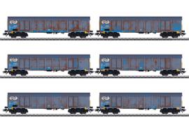 """Marklin 47189#Set hogeboordwagens """"houtspaandervervoer"""" NS"""