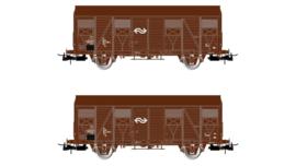Rivarossi HR 6430#  NS 2-delige set gesloten goederenwagens Type Gs