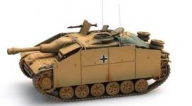 Artitec 387.50 YW   StuG III Ausf G Sturmhaubitze (winter, geel)