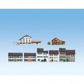 Noch 60308 # CD  achtergronden voor halfreliëfgebouwen, Alpenlanden