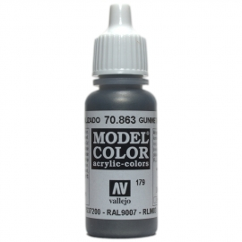 Vallejo 70.863 Gunmetal Grey, acryl verf (17 ml)