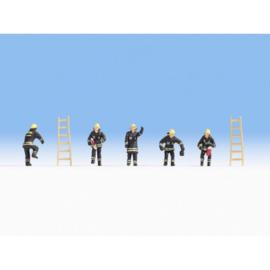 NOCH 36021 : Brandweermannen (zwart uniform)
