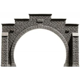 """Noch 34852# Tunnel portaal serie #Steinmauer"""" dubbel spoor"""