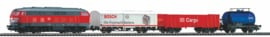 Piko 57154#Analoge startset met rails met bedding. Locomotief BR 218 DB Cargo met 3 goederenwagons