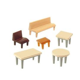 Faller 272440 : Tafels, banken en stoelen
