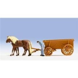 Noch 16703 # Paarden met hooiwagen