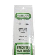 Evergreen 123 : Kunststof Strip 0.5mm x 1.5mm