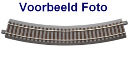 Roco 61123 Gebogen rail R3 met ballastbed