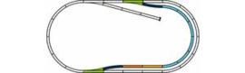 Piko 55321. Stations uitbreidingsset C ( A rails met bedding. )