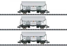 """15511 Set goederenwagens """"zij-loswagen"""""""