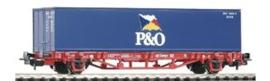 """Piko 57706. Containerwagon Lgs579 """"P&O"""" DB Cargo. Ep V."""