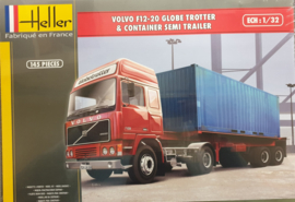 Heller 81702# Volvo F12-20 Globe trotter met container trailer 1:32
