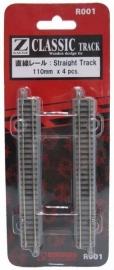 Rokuhan / Noch 97001 rechte rails (4 stuks) R111 mm /  45º