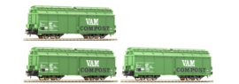 ROCO 66116 : 3-delige set VAM compostwagens (NS)